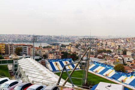 Istanbul, Turkey, Recep Tayyip Erdogan Stadiumon or Kasımpasa Stadium football on October 30 2019 in Istanbul, Turkey Редакционное