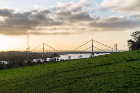 Wye Bridge carrying the M48 in morning light, landscape.