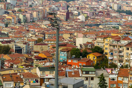 Istanbul, Turkey, with Stadium Floodlight in foreground. Фото со стока