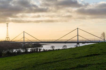 Wye Bridge carrying the M48 in morning light. Фото со стока
