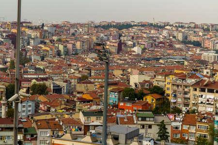 Istanbul, Turkey, with Stadium Floodlight in foreground, landscape.