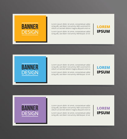 Box- oder Box-Banner-Vorlagendesign mit horizontalem Werbebannerraum für Textvektorillustration vector Vektorgrafik