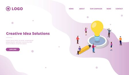 Group young business people are happy after collaborating to solve problems with creative ideas, brainstorming and teamwork concepts. modern flat style vector illustration 向量圖像