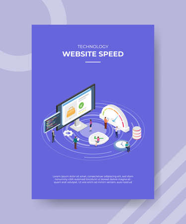 website loading speed concept for template banner and flyer for printing with isometric style vector illustration Illusztráció