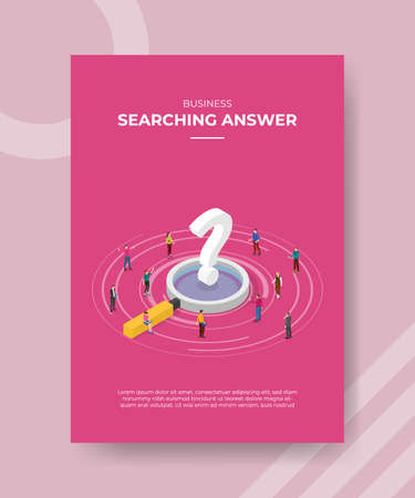 searching for answer concept for template banner and flyer for printing with isometric style vector illustration Illusztráció