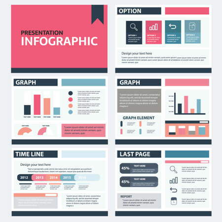 Infographic Presentation Template Infographics Element, presentation Marketing and business, Modern flat Style Layout design