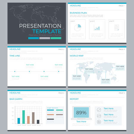 presentation template infographics power point design element Illustration