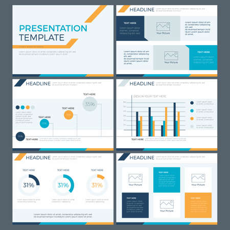 presentatie template concept van business team werk en marketing power point design
