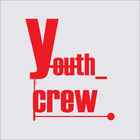 Typography youth crew for t-shirt