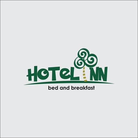 Hotel logo concept for your business Illustration