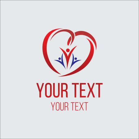 charity logo concept, love logo concept