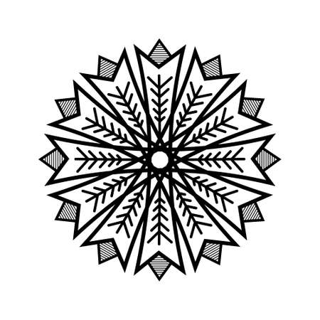 Snowflakes, geometric Christmas ornaments, background 일러스트