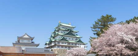 Panorama of Nagoya Castle spring 写真素材