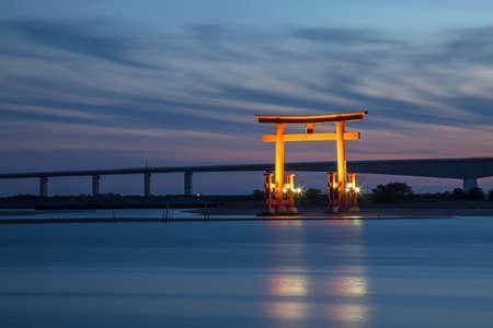 Light up the Hamana Lake Torii
