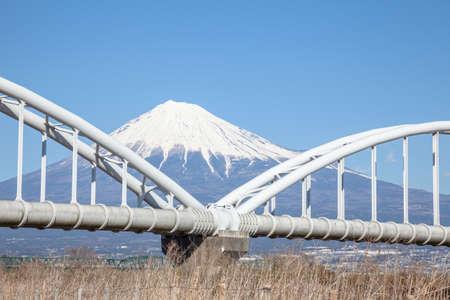 Mt. Fuji and aqueducts 版權商用圖片