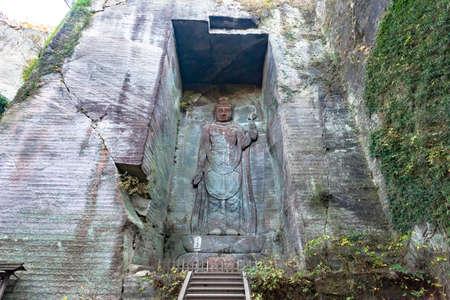 Mt. nokogiri Japan Temple ?? Kannon 写真素材 - 113835078