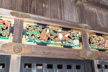 Nikko Tosho-gu shrine three wise monkeys