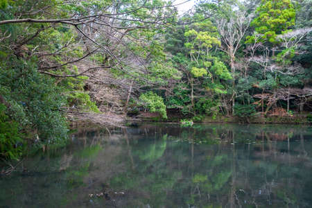 ISE Grand shrine-Naiku pond 写真素材