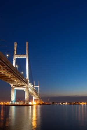 Yokohama Bay Bridge Night View