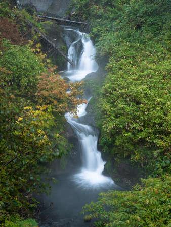 Hokkaido Asahidake Onsen Komagane Waterfall 写真素材