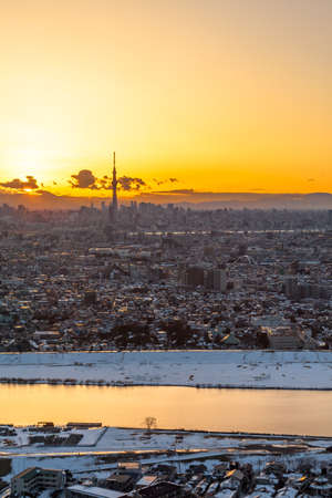 Winter in Tokyo sunset? 報道画像