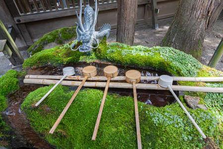 Suwa Taisha Hongu Temizusha 写真素材