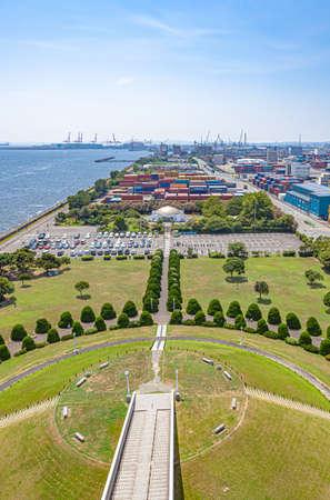 View from Yokohama Port Symbol Tower Observatory