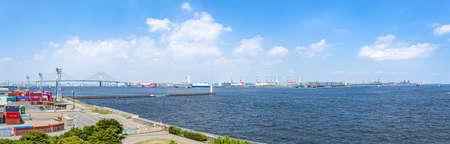 Yokohama Port seen from Yokohama Port Symbol Tower