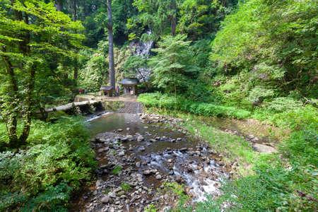 Haguroyama Dewa Sanzan Shrine Asahikawa and Suga Falls