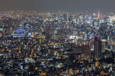 The night view of Tokyo from the Tokyo Sky Tree Observatory 写真素材