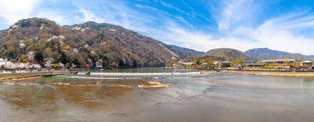 Arashiyama and Katsura River in Spring Фото со стока