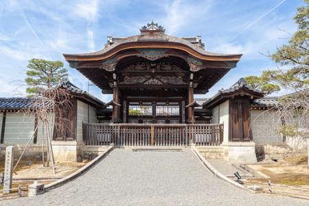 Ninna-ji Temple Imperial Envoy Gate Редакционное