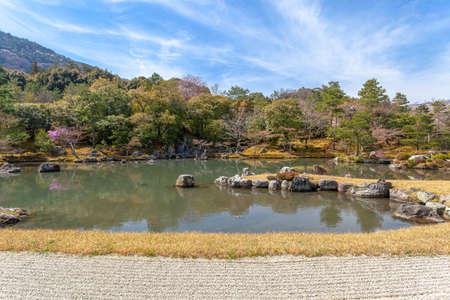 Tenryu-ji Temple Sogen pond Редакционное