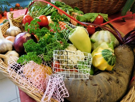 The Tomatoes, garlic, parsley, onion. Can create amazing basket from wood