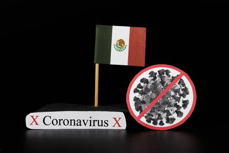 Mexico is one of many lands affected by coronavirus. Covid-19 is a type of group of RNA viruses that cause variety of diseases in humans, mainly respiratory tract. Viral disease. Panic atmosphere.