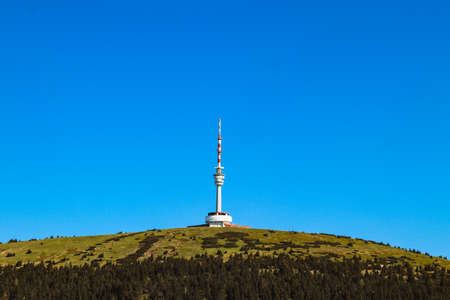 Praded lookout tower and television transmitter - the highest mountain of Hruby Jesenik in northern Moravia in the Czech Republic. It stands on a bare hill with views in all directions.