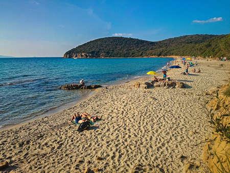 The beautiful beach of Cala Violina in Tuscany. Italy