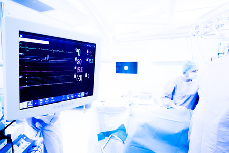 conduction: heart monitor to keep track of vital functions of the body during cardiac surgery