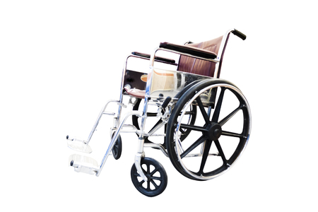 wheelchair on a white background photographed side