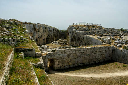 Euryalus Fortress Ruins (Castello Eurialo) Stock Photo