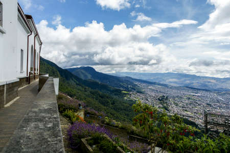 City view from Monserrate hill in Bogota Stock Photo