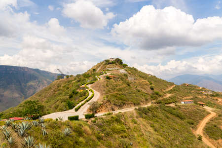 Walking around Chicamocha National Park in Colombia Stock Photo