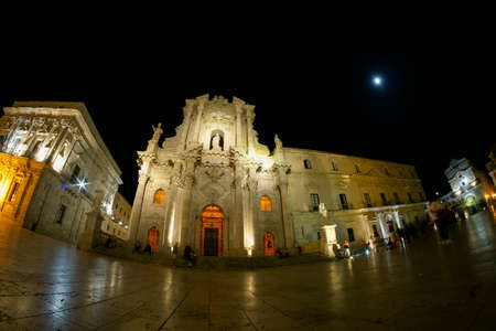 Duomo Square by Night in Ortygia - Syracuse