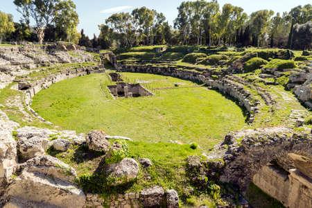 Ruins of Roman Amphitheater of Syracuse