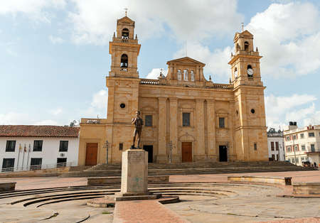 Exterior View of Basilica of Our Lady of the Rosary in Chiquinquira - Colombia
