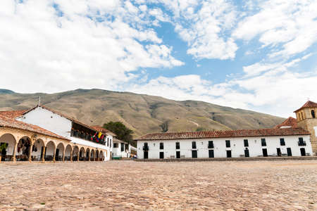 Panoramic Views of Villa de Leyva Main Square in Boyaca - Colombia