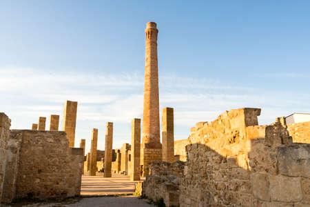 Ruins of The Tuna Factory of Vendicari Nature Reserve in Sicily, Italy.