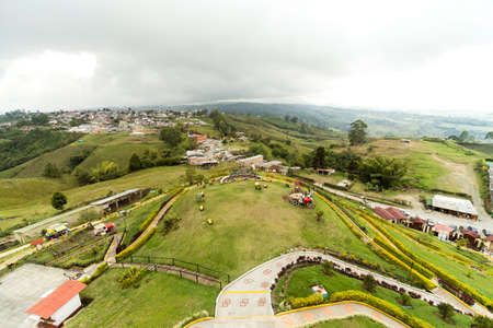 Beautiful Sights of Lookout of Filandia in Quindio, Colombia II. Stock Photo