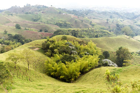 High Views of Lookout of Filandia in Quindio, Colombia.