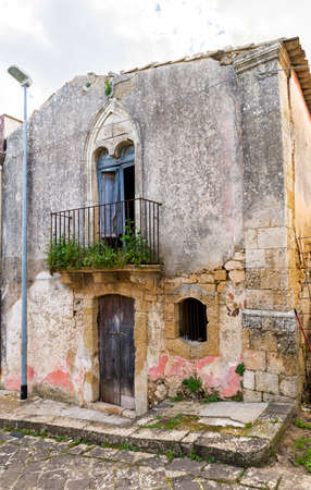 Ancient Architecture of Town of Cassaro, Province of Syracuse, Italy.